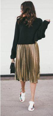 С чем одеть плиссированную юбку