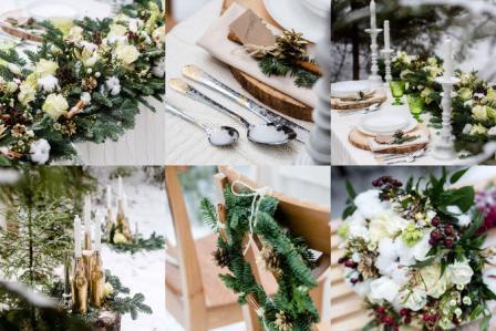 Оформление свадьбы в зимнем стиле