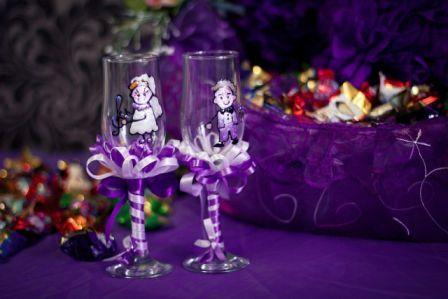 Свадьба в фиолетовом цвете оформление