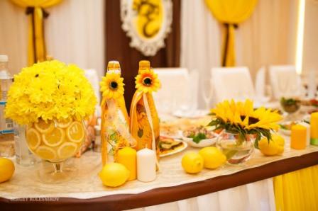 Оформление свадьбы в цвете фото