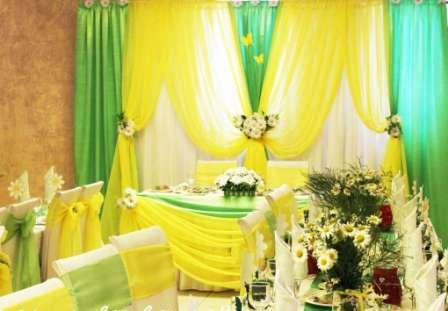 Свадьба в желтом цвете, оформление