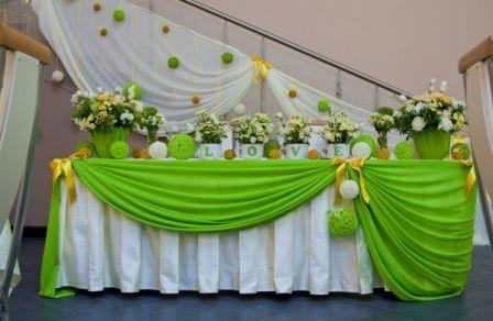 Свадьба в зеленом цвете, оформление фото
