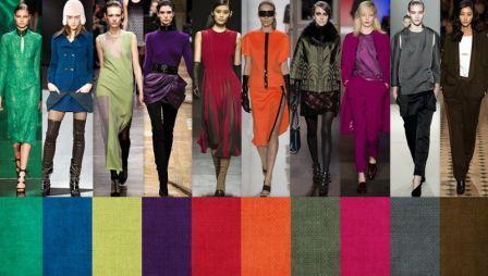 Модные цвета одежды весна