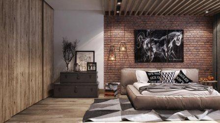 Узоры  и принты на стенах в интерьере
