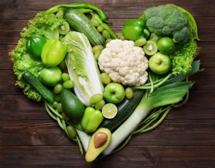 Фрукты и овощи полезные +для сердца