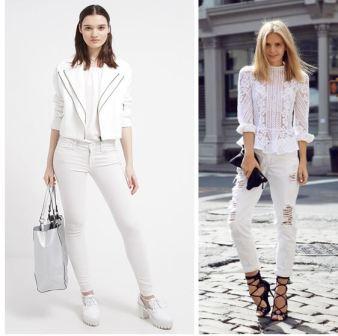 Девушки в белых джинсах