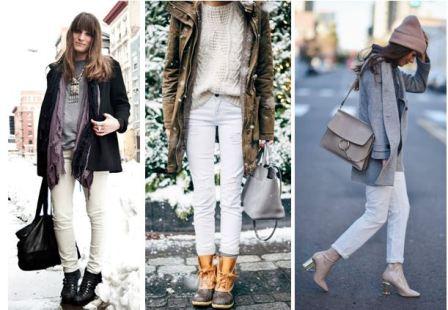 Белые джинсы с чем носить фото