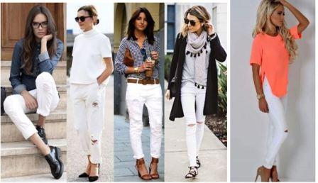 С чем носить белые джинсы летом