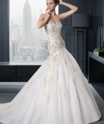 Стиль свадебных платьев Годе