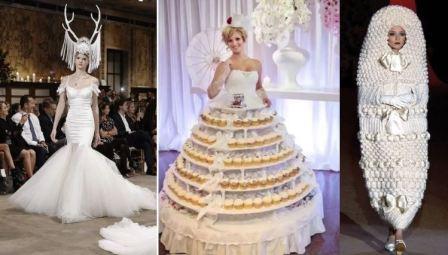 Необычные свадебные платья: фото