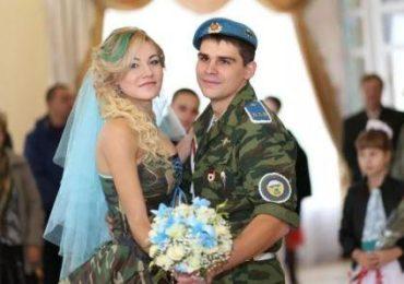 Свадьба в военном стиле