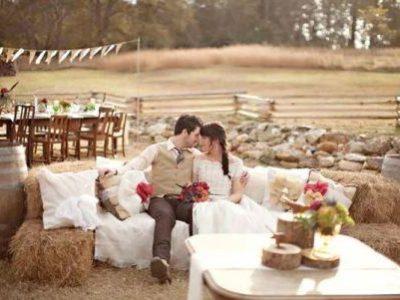 Нестандартное решение: свадебное торжество в деревенском стиле