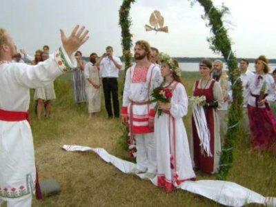 Славянская свадьба в стиле средних веков