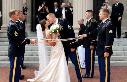 Свадьба в стиле Military: строго, смело и красиво
