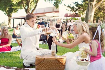 Свадьба в стиле пикник: полная свобода и свежий воздух