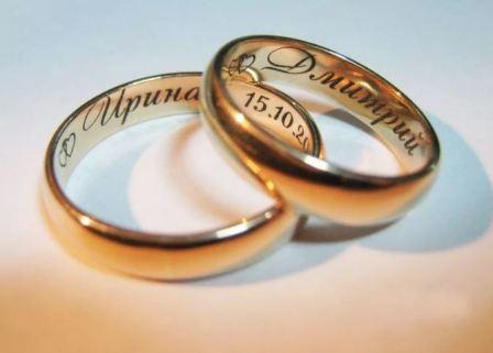 Гравировка на обручальном кольце – оттиск счастьядвух влюбленных