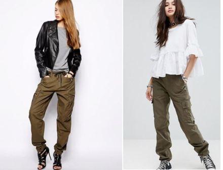 С чем носить модные брюки карго